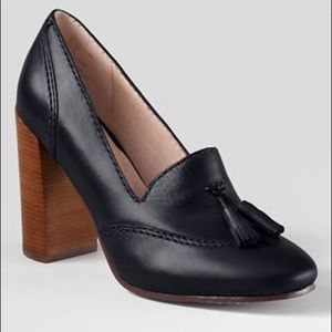 LAND'S END stowe high heels with tassel